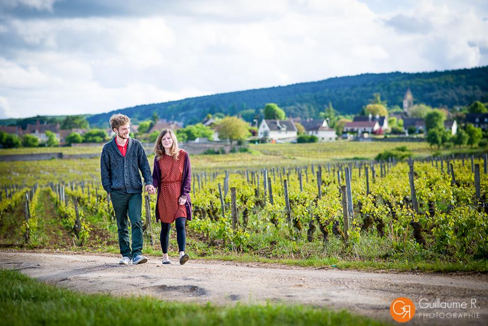 Séance couple Rachel et Valentin à la  Côte de Nuits - Photographe Dijon et Beaune